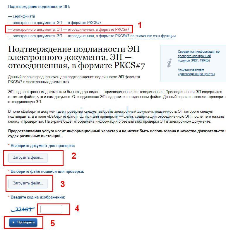 Проверка подписи после электронной регистрации сделки на сайте госуслуг