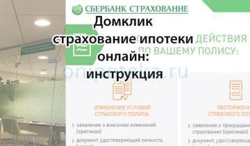 Домклик страхование ипотеки онлайн: инструкция