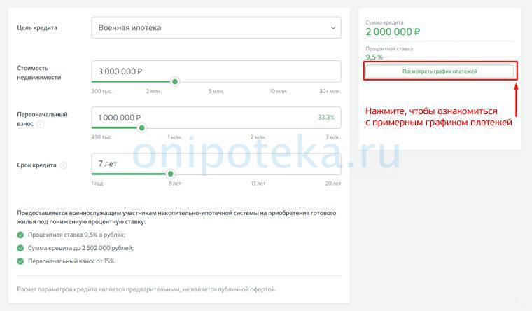 Калькулятор военной ипотеки на сайте ДомКлик