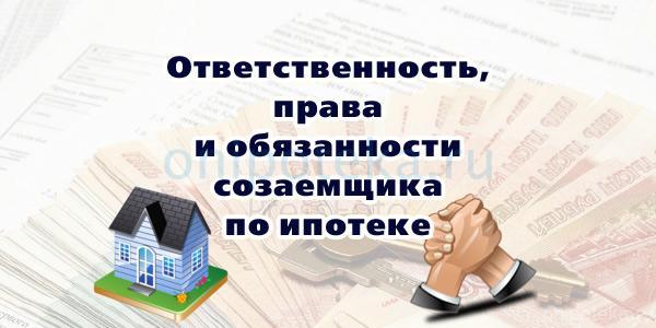 Ответственность, права и обязанности созаемщика по ипотеке