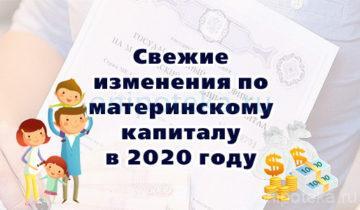 Свежие изменения по материнскому капиталу в 2020 году