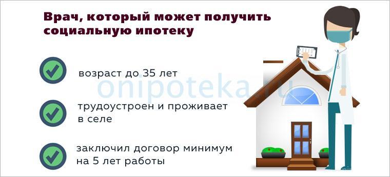 Предоставление господдержки (социальной ипотеки) врачам и учителям