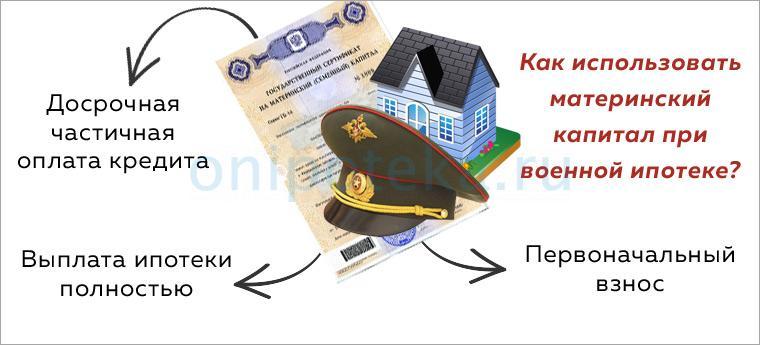 Как использовать материнский капитал при оплате военной ипотеки