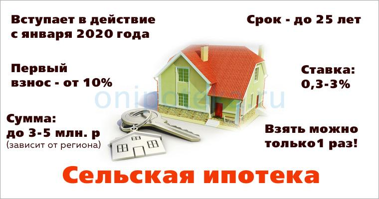 Основные условия сельской ипотеки
