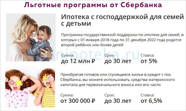 Льготы по ипотеке для женщин с детьми в Сбербанке