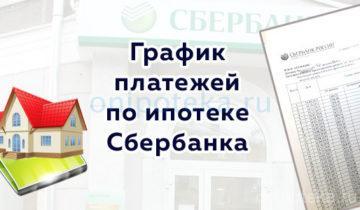 График платежей по ипотеке Сбербанка
