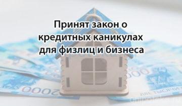 Принят закон о кредитных каникулах для физлиц и бизнеса
