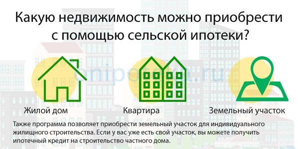 Какую недвижимость можно купить по сельской ипотеке Дом рф